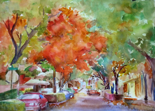 Downtown Camas Barbara VanNostern watercolor