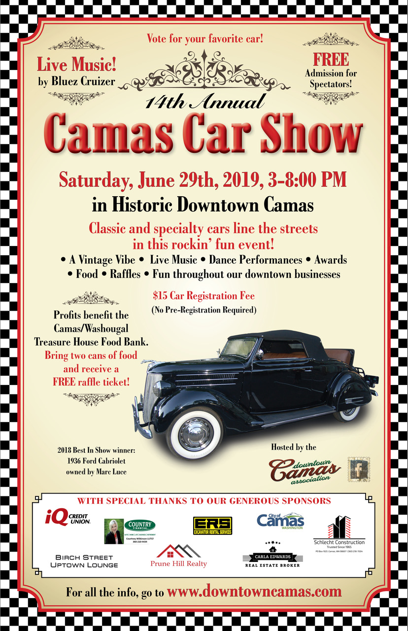 Camas Car Show 2019 - Downtown Camas | Shops, Restaurants